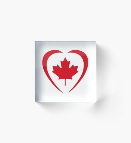 Canadian Patriot Flag Series (Heart) Acrylic Block