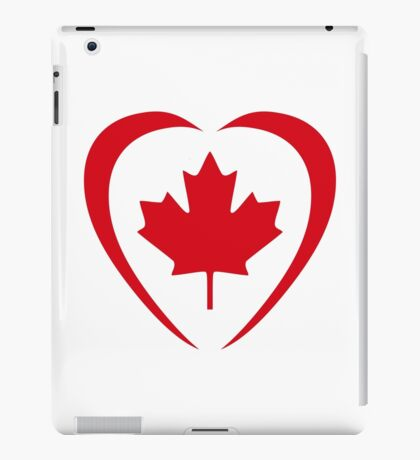 Canadian Patriot Flag Series (Heart) iPad Case/Skin