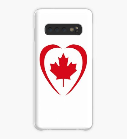 Canadian Patriot Flag Series (Heart) Case/Skin for Samsung Galaxy