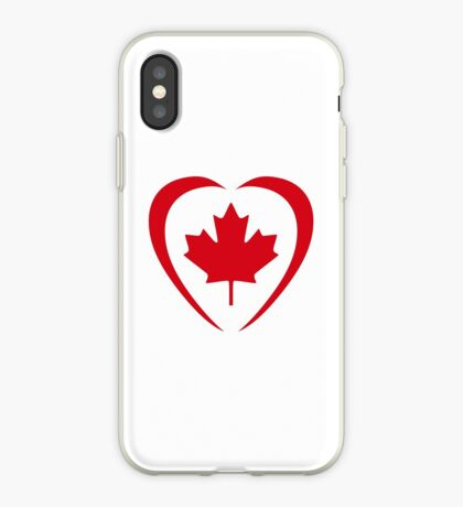Canadian Patriot Flag Series (Heart) iPhone Case