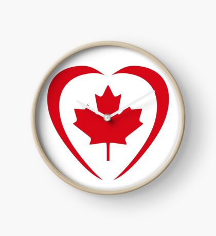 Canadian Patriot Flag Series (Heart) Clock