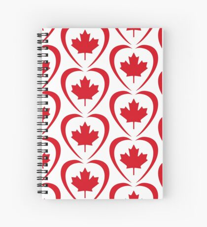 Canadian Patriot Flag Series (Heart) Spiral Notebook