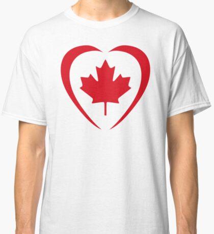 Canadian Patriot Flag Series (Heart) Classic T-Shirt