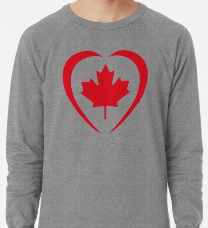 Canadian Patriot Flag Series (Heart) Lightweight Sweatshirt