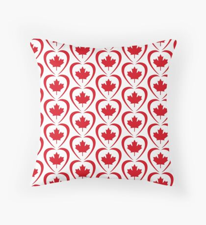 Canadian Patriot Flag Series (Heart) Floor Pillow