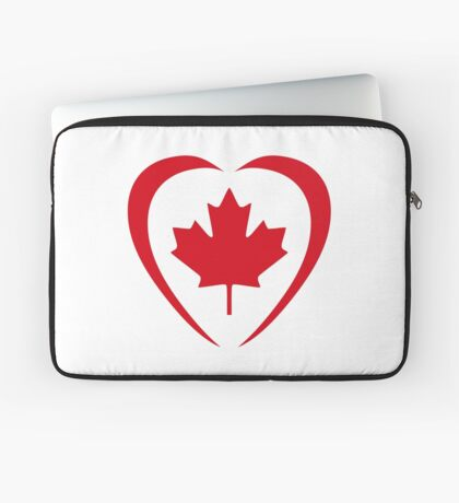 Canadian Patriot Flag Series (Heart) Laptop Sleeve