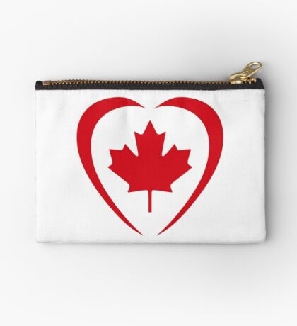 Canadian Patriot Flag Series (Heart) Zipper Pouch