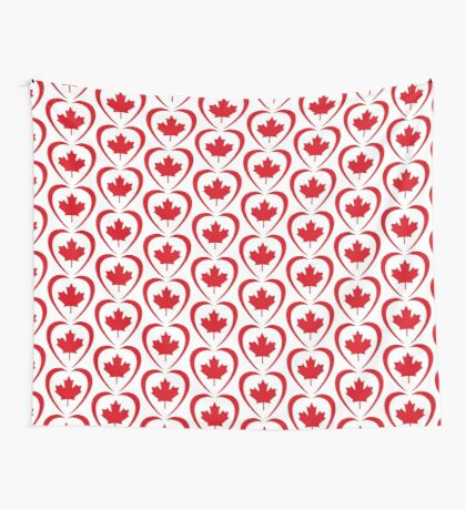 Canadian Patriot Flag Series (Heart) Wall Tapestry