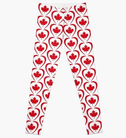 Canadian Patriot Flag Series (Heart) Leggings