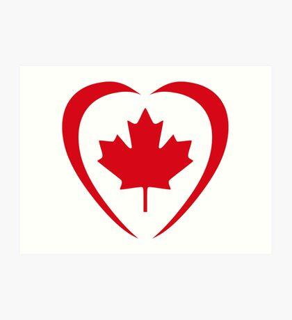 Canadian Patriot Flag Series (Heart) Art Print