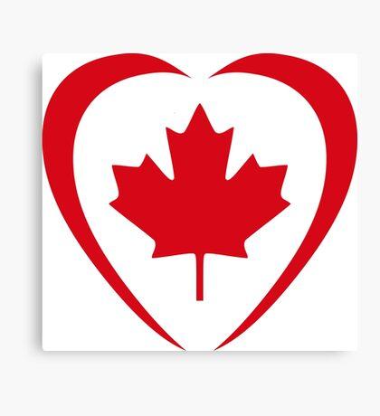 Canadian Patriot Flag Series (Heart) Canvas Print