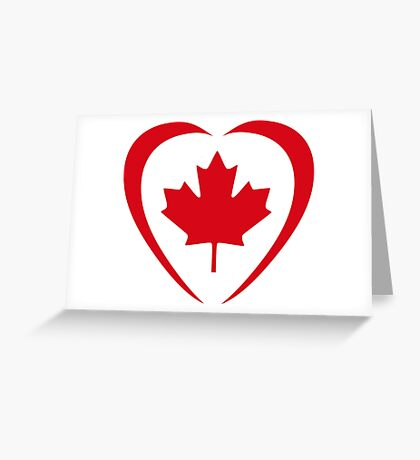 Canadian Patriot Flag Series (Heart) Greeting Card