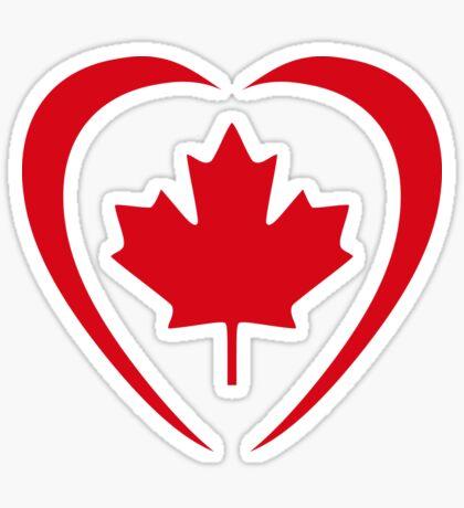 Canadian Patriot Flag Series (Heart) Sticker
