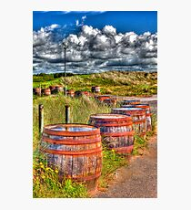 Barrels on side of the road Photographic Print