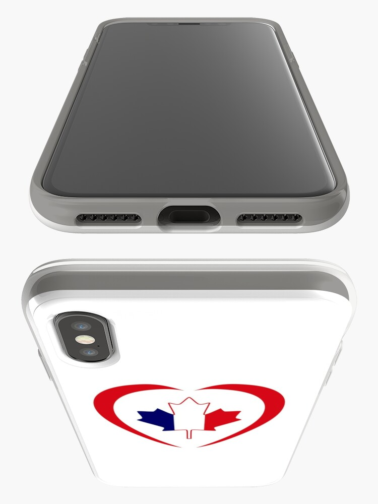 Alternate view of French Canadian Multinational Patriot Flag Series (Heart) iPhone Case & Cover
