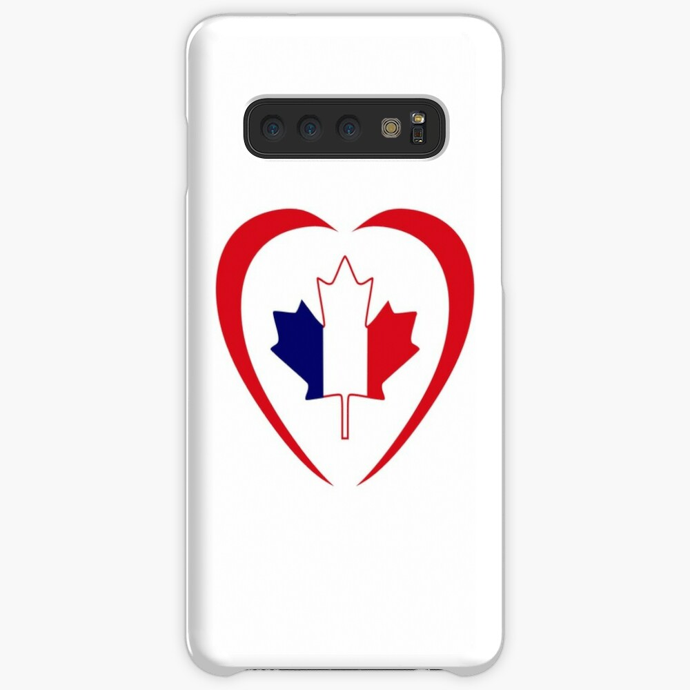 French Canadian Multinational Patriot Flag Series (Heart) Case & Skin for Samsung Galaxy