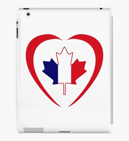French Canadian Multinational Patriot Flag Series (Heart) iPad Case/Skin
