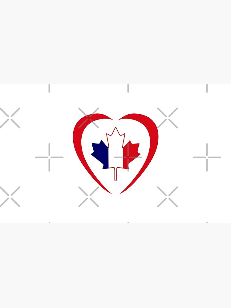 French Canadian Multinational Patriot Flag Series (Heart) by carbonfibreme