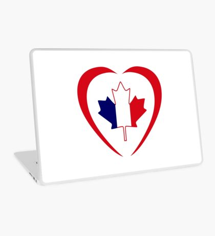 French Canadian Multinational Patriot Flag Series (Heart) Laptop Skin