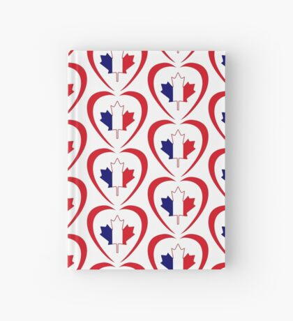 French Canadian Multinational Patriot Flag Series (Heart) Hardcover Journal