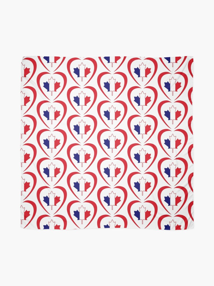 Alternate view of French Canadian Multinational Patriot Flag Series (Heart) Scarf