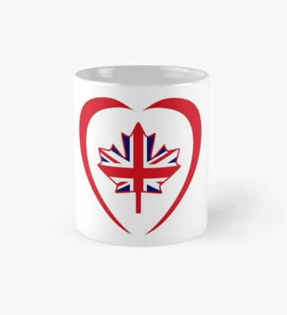British Canadian Multinational Patriot Flag Series (Heart) Mug