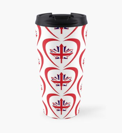 British Canadian Multinational Patriot Flag Series (Heart) Travel Mug