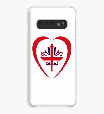 British Canadian Multinational Patriot Flag Series (Heart) Case/Skin for Samsung Galaxy