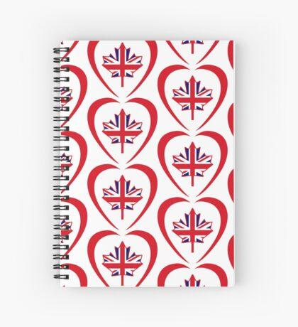 British Canadian Multinational Patriot Flag Series (Heart) Spiral Notebook