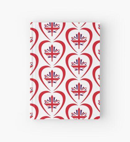 British Canadian Multinational Patriot Flag Series (Heart) Hardcover Journal