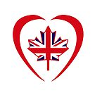 British Canadian Multinational Patriot Flag Series (Heart) by Carbon-Fibre Media