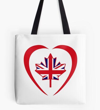 British Canadian Multinational Patriot Flag Series (Heart) Tote Bag