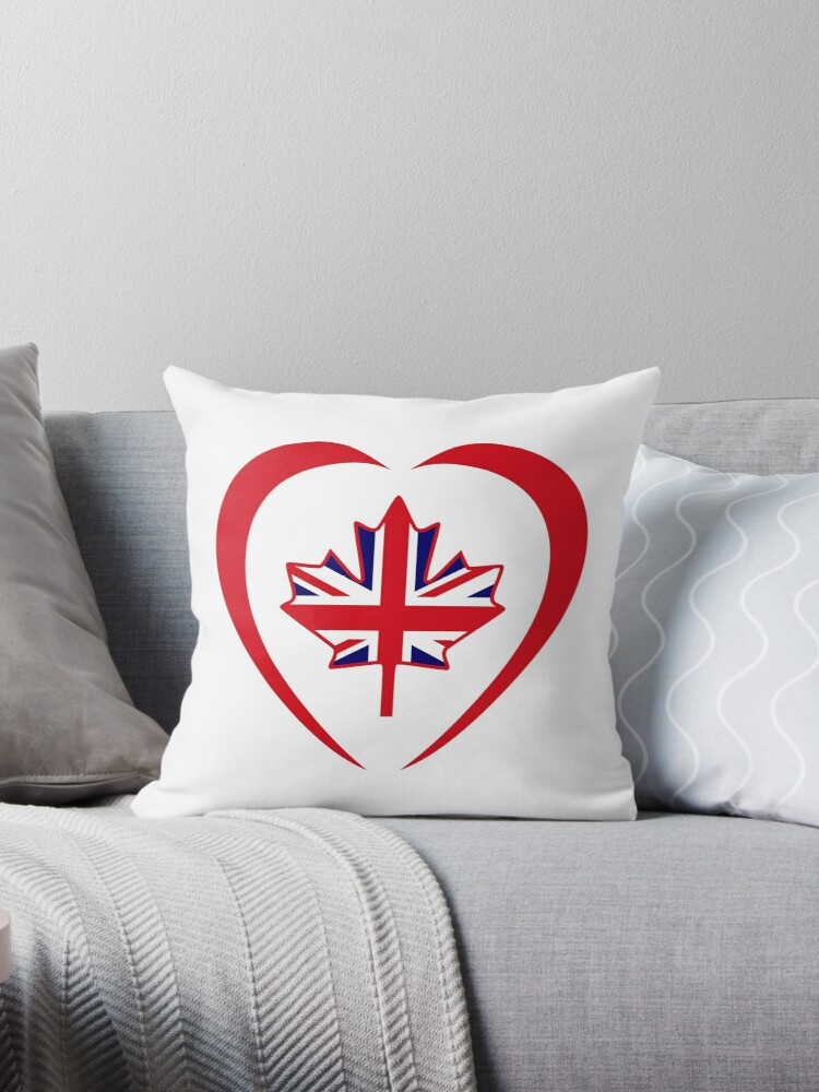 British Canadian Multinational Patriot Flag Series (Heart) by Carbon-Fibre Media