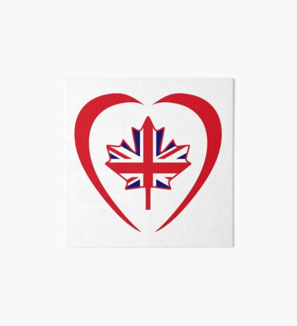 British Canadian Multinational Patriot Flag Series (Heart) Art Board Print