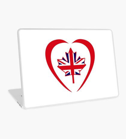 British Canadian Multinational Patriot Flag Series (Heart) Laptop Skin
