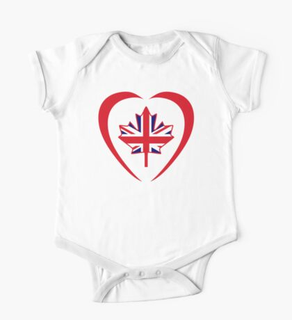 British Canadian Multinational Patriot Flag Series (Heart) Kids Clothes
