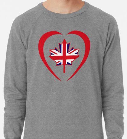 British Canadian Multinational Patriot Flag Series (Heart) Lightweight Sweatshirt