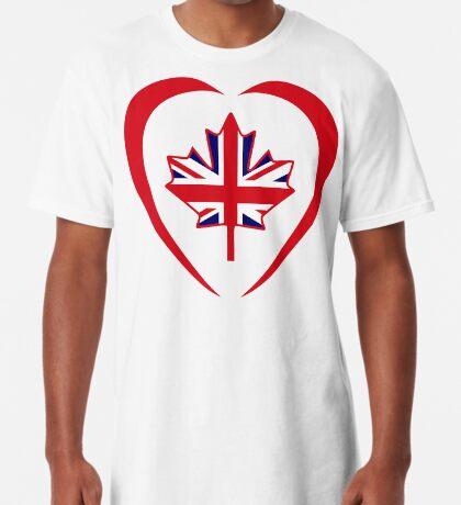 British Canadian Multinational Patriot Flag Series (Heart) Long T-Shirt