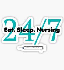 Eat Sleep Nursing Sticker