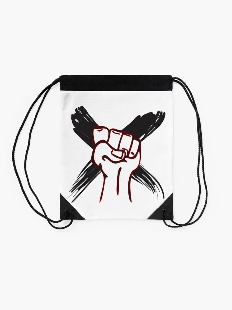 Alternate view of Strong Fist Drawstring Bag