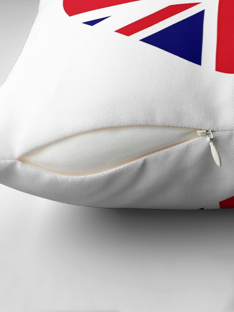 Alternate view of British Canadian Multinational Patriot Flag Series Throw Pillow