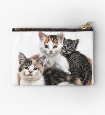 Three Happy Kittens Zipper Pouch