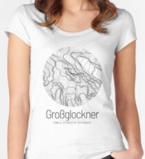Grossglockner | Topographic Map Design (Minimalist) Fitted Scoop T-Shirt