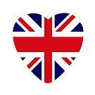 British Patriot Flag Series (Heart) by Carbon-Fibre Media