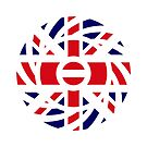 British Austrian Multinational Patriot Flag Series by Carbon-Fibre Media