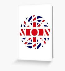 British Patriot Flag Series Greeting Card