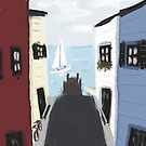 Colorful Seaside Village by Sarah Countiss