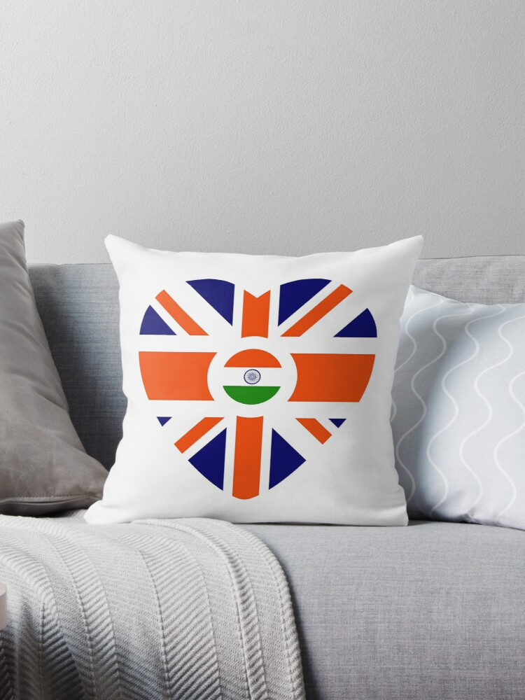 British Indian Multinational Patriot Flag Series (Heart) by Carbon-Fibre Media
