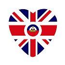 British Haitian Multinational Patriot Flag Series (Heart) by Carbon-Fibre Media