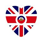 British Haitian Multinational Patriot Flag Series (Heart) by Carbon-Fibre Media